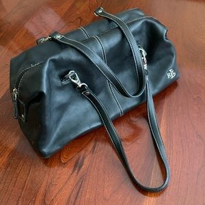 Lauren Ralph Lauren black leather purse
